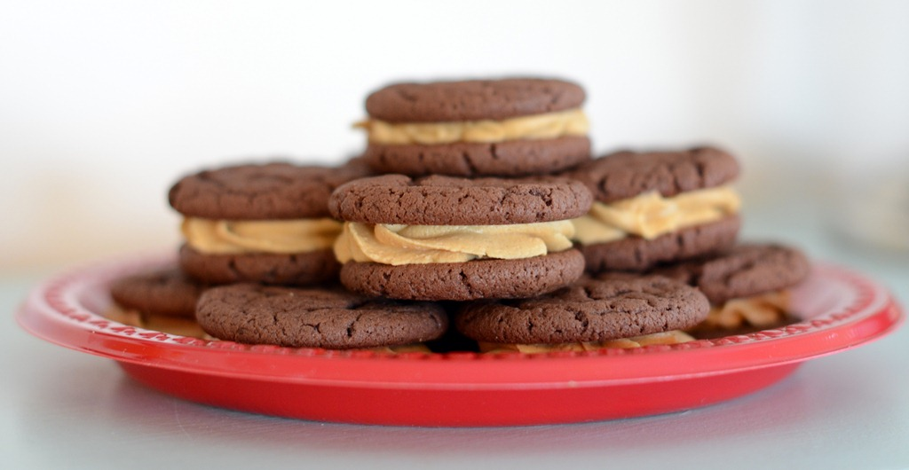 Chocolate Peanut Butter Whoopie Pies - Crap I've Made
