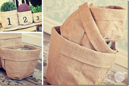 burlap baskets