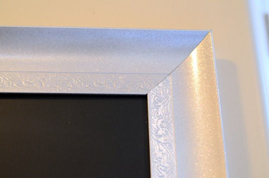 I Painted The Mdf With 2 Thin Coats Of Chalkboard Paint One In Each Direction And Then After It Dried Put Frame